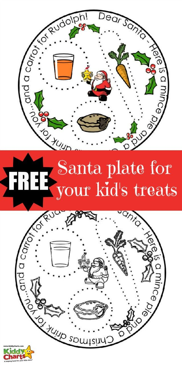 Christmas for the kids isn't quite there without a santa plate for Christmas Eve on the mantlepiece. Pop your carrot, drink and mince pie on our free Christmas Plate printable!