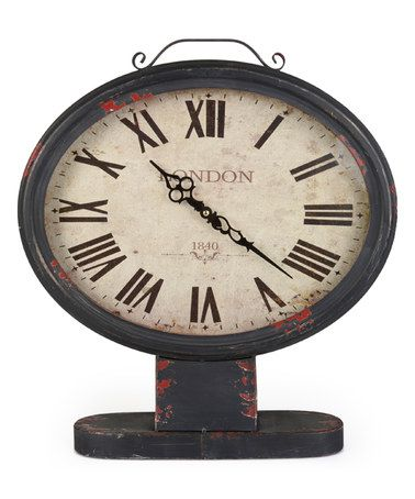 Love this Black 'London 1840' Oval Table Clock on #zulily! #zulilyfinds
