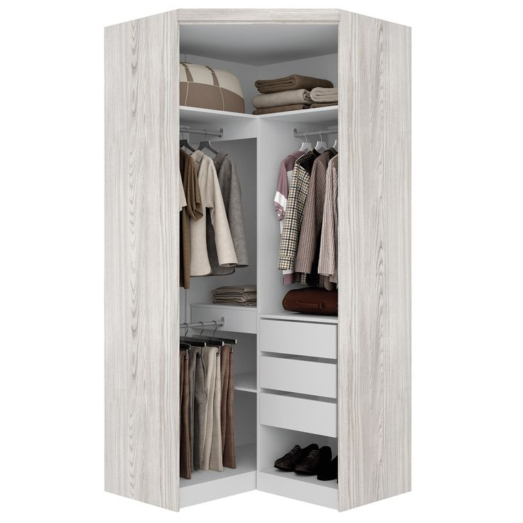 Guarda-Roupa Canto 2 Portas Top Havana Alpes Mais