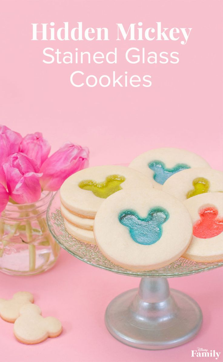 Welcome Spring With Hidden Mickey Stained Glass Cookies