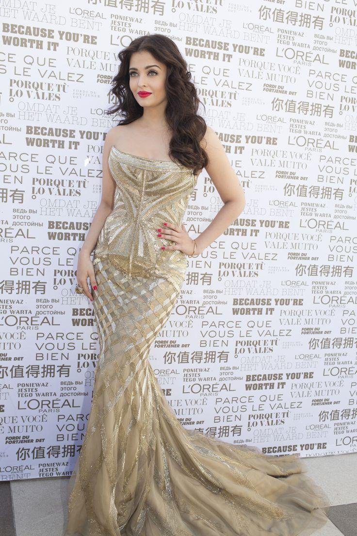 Aishwarya Rai - Festival de Cannes 2014 lipstick color riche moist matte lincoln rose