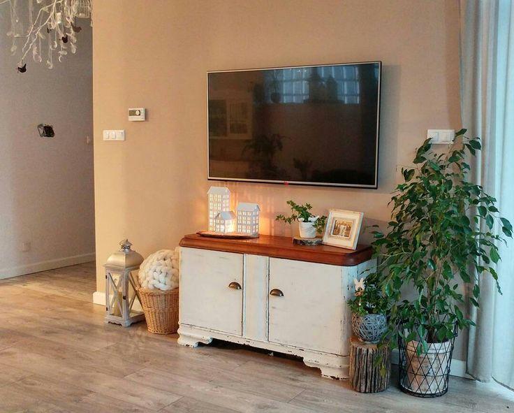 Living room. White interior.   Shabby chic