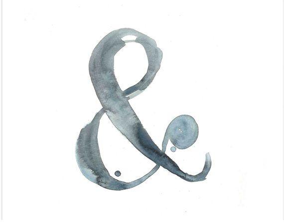 ampersand watercolor print