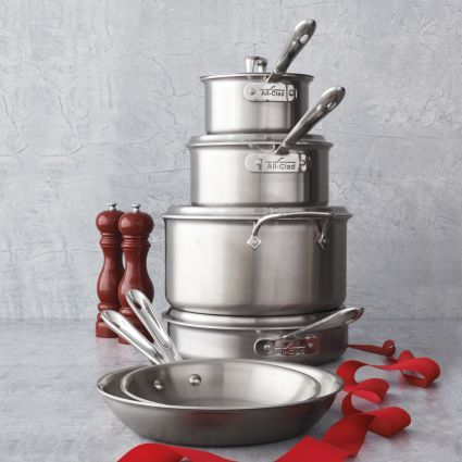 All-Clad D5 Brushed Stainless Steel 10-Piece Set, available at #surlatable