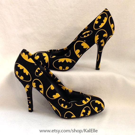 These badass Batman heels. | 17 Pairs Of Geeky Heels Every Fangirl Should Own