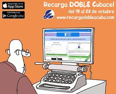 Recarga +30CUC de REGALO a Cuba del 19 AL 23 de octubre de 2015. Saldo Adicional Cubacel  Recargas a Cuba en https://www.recargadobleacuba.com. #Cuba #Cubacel #Etecsa