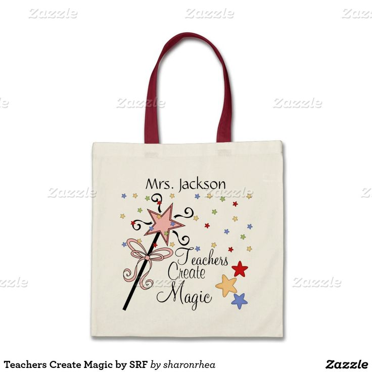 Teachers Create Magic by SRF Budget Tote Bag