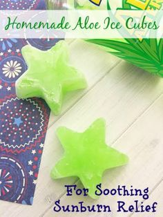 Need an easy remedy for a pesky sunburn this summer? Try these homemade Aloe Ice Cubes For Soothing Sunburn Relief!