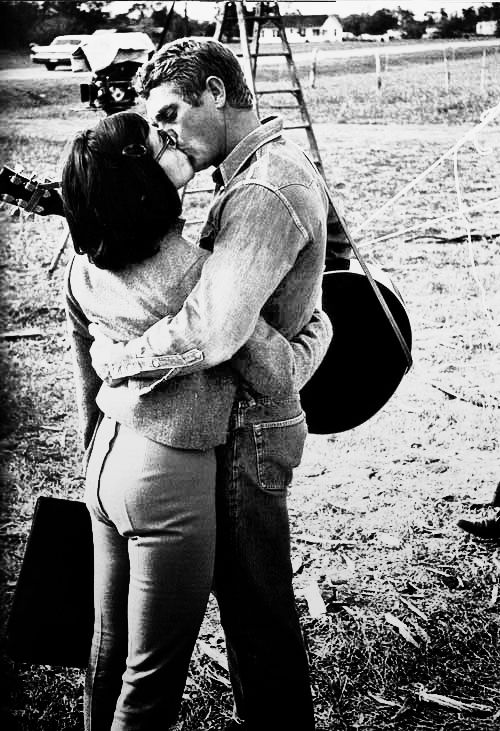 """""""With strangers, I can't breathe…. But I dig my old lady."""" -Steve McQueen"""