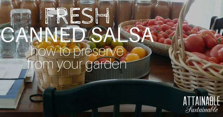 Canning salsa fresh from the garden is easy. It's great for snacking and as an ingredient in chili. This is the best salsa recipe for canning!