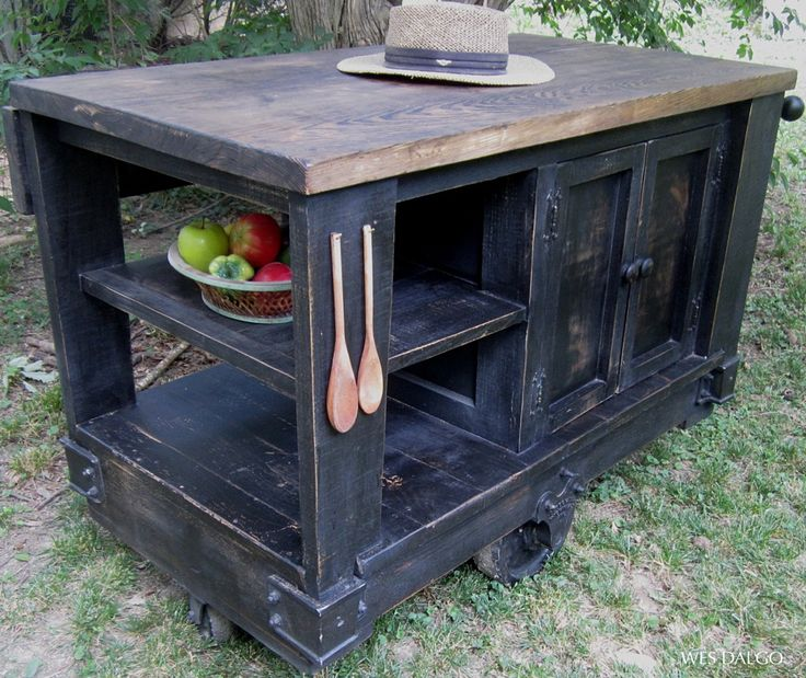 Dark Rustic Kitchen Island Cart Contemporary Modern Rustic Kitchen Furniture