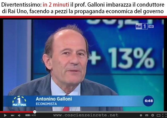 Il Prof. Galloni sbugiarda la propaganda renziana in 2 minuti su RAI1