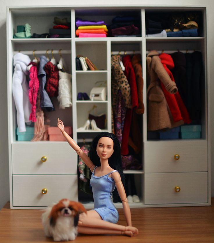 My new wardrobe!  #Playscale #Barbie #wardrobe, #OOAKBarbie #BarbieClothes #BarbieShoes #BarbieAccessories