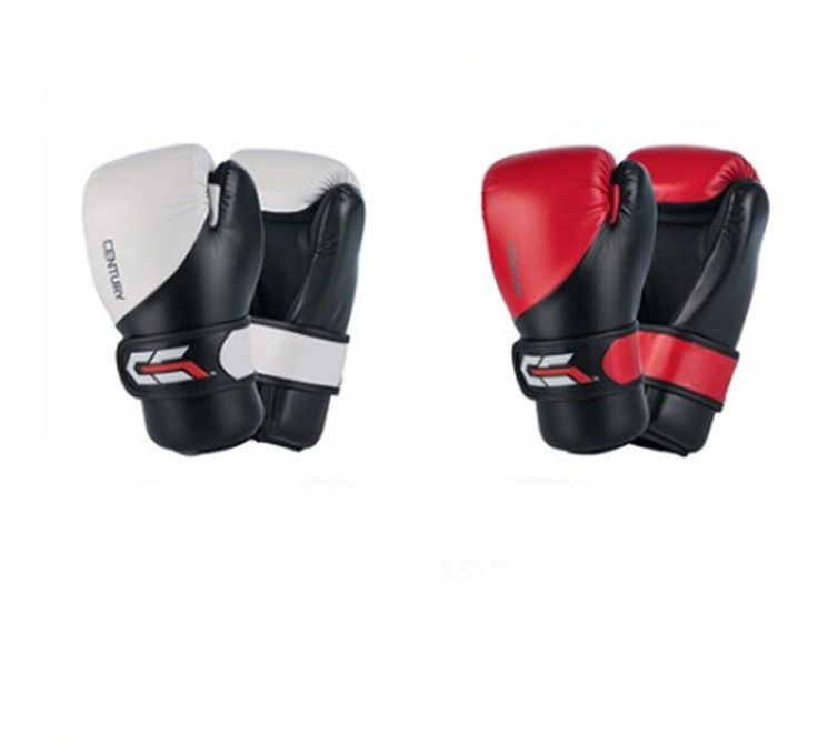 CENTURY  C-Gear Gloves c11540. Century C-Gear Martial Arts Karate Sparring Gloves C-Gear Gloves were designed for competitive martial artists. A built-on foam grip bar helps reduce hand fatigue while building hand strength, and a hook-and-loop wrist closure provides secure fit and stability. The glove's shape allows for greater hand movement, allowing extension during sparring.
