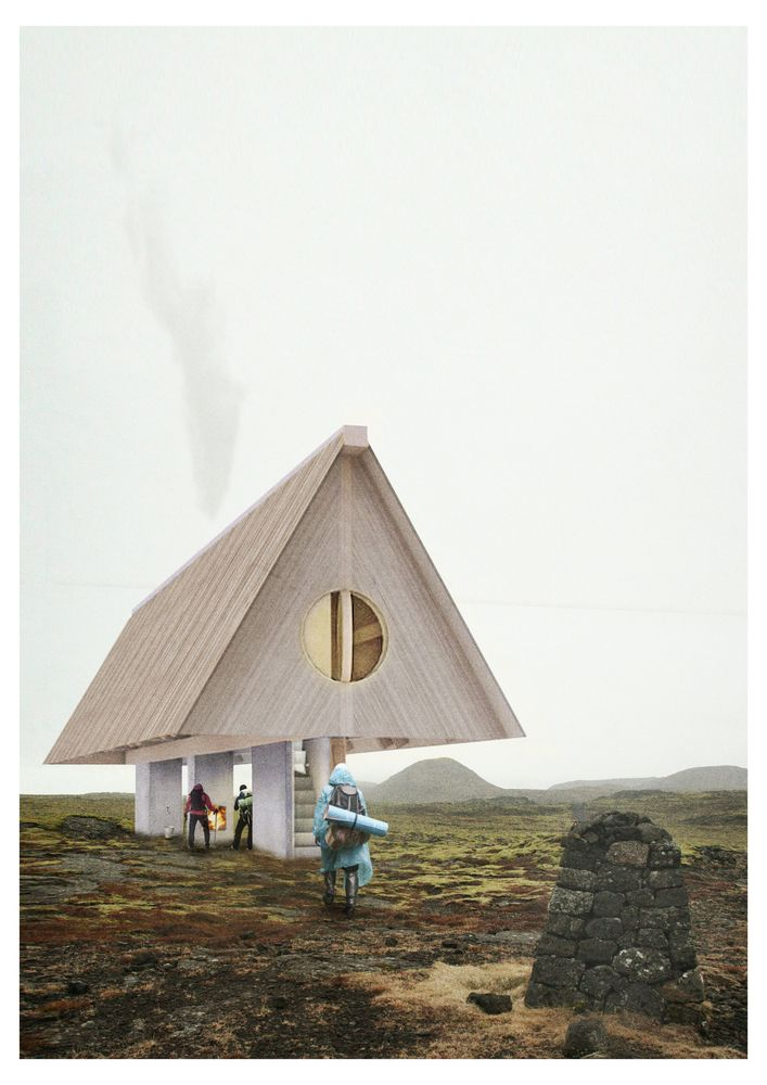 Gallery of Iceland Trekking Cabins Competition Winners Announced - 1