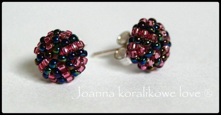 Earrings beadded kolczyki