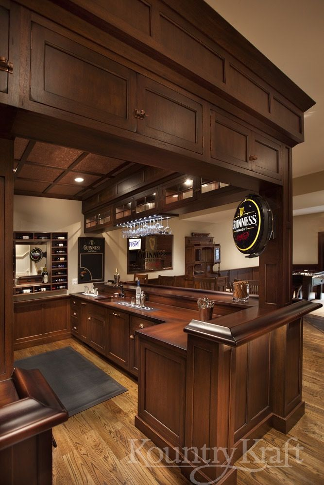 Custom Wet Bar Cabinets Designed By Kountry Kraft, Inc. This Wet Bar Is  Constructed