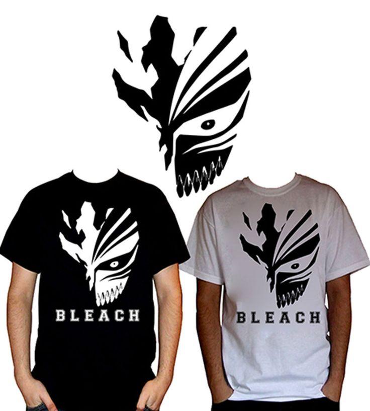 Bleach ichigos hollowfication mask whiteblack anime t