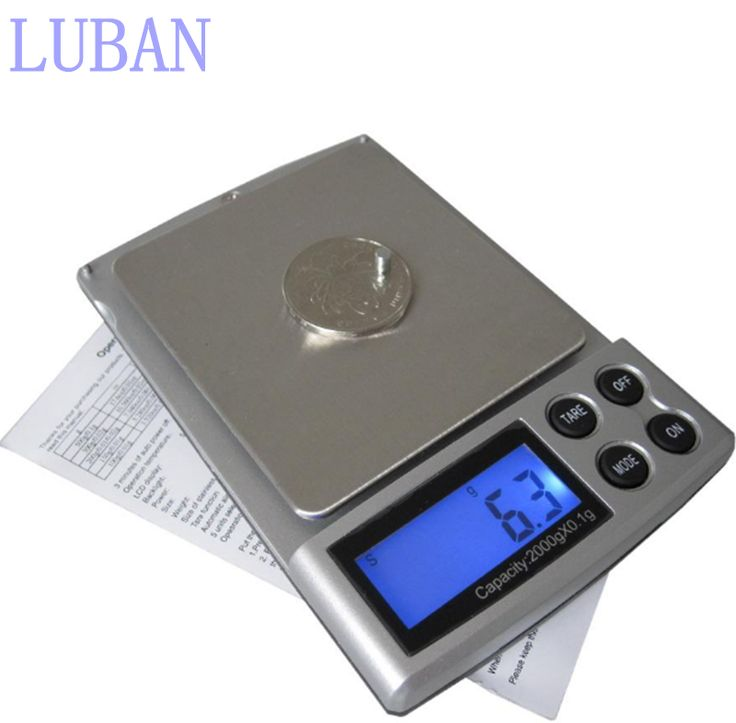 1pc 2000gx01g pocket electronic digital jewelry scale weighing kitchen scales grams balance lcd