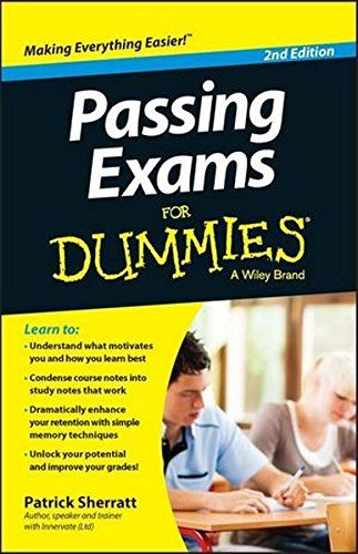 Passing Exams For Dummies 2nd Edition Pdf Download e-Book