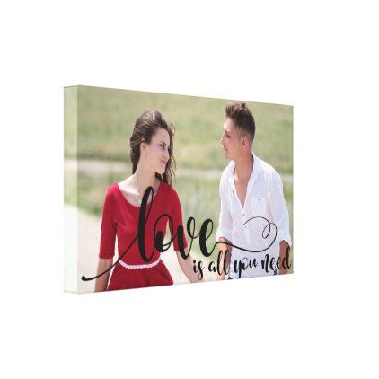 Love Photo Overlay | Create your own Custom Photo Canvas Print - create your own gifts personalize cyo custom