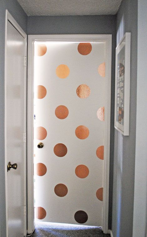 Great DIY polka dots Modern gold copper glam glitter