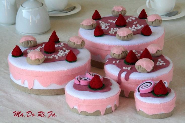 torte fragola e panna