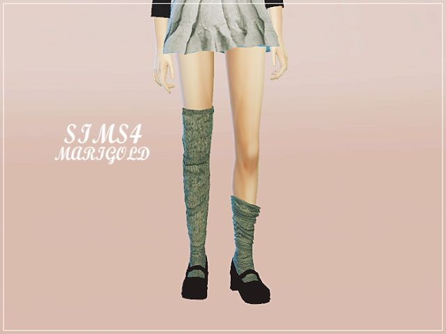 Female loose socks unbalance at Marigold  Sims 4 Updates: Marigold - Accessories, Tights / Stockings : Female loose socks unbalance, Custom Content Download!