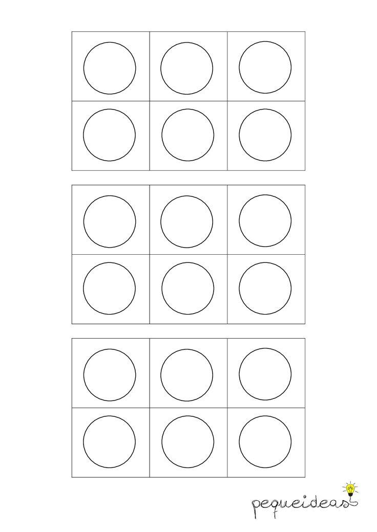 Juego con pompones (huevera de 6) - plantilla en blanco