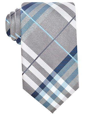 Geoffrey Beene Tie, Pierre Plaid Big and Tall - Mens Ties - Macy's