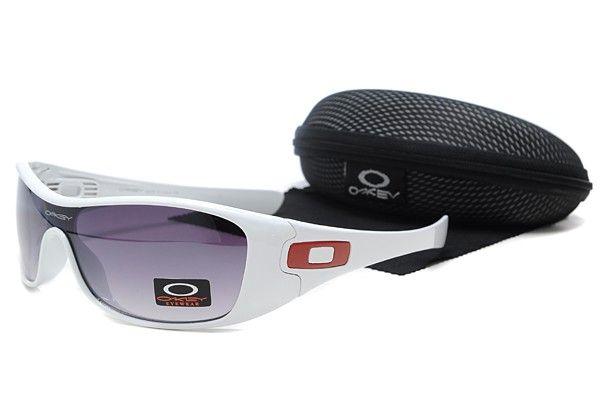 Óculos de sol Oakley ANTIX Branco Quadro roxo lente - Óculos de sol Oakley ANTIX