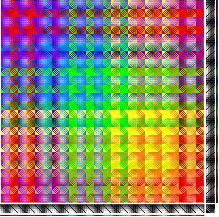 Weave-Away: These color changes...