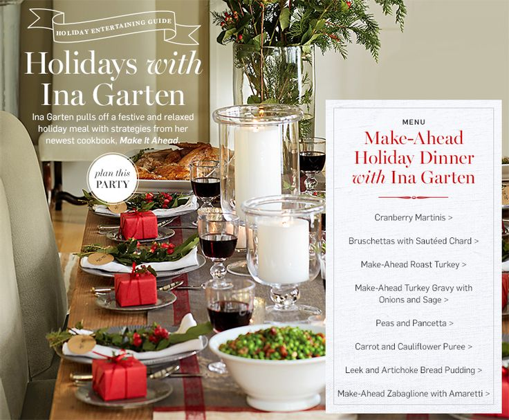Beautiful Ina Garten Dinner Party Ideas Part - 11: Make-ahead Holiday Dinner With Ina Garten (look On The Right Side For The