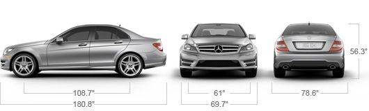 Mercedes Benz 2013 C Class C300 C350 Sport Sedan Specs