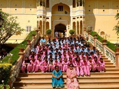 The Tushita Foundation at Samode Palace, Rajasthan India