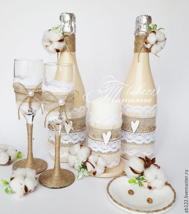 Wedding accessories | Купить Зимняя свадьба набор аксессуаров - белый, зимняя свадьба, свадебные аксессуары, свадебные бокалы