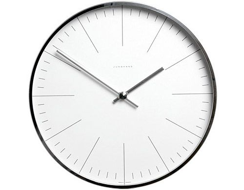 Max Bill Wall Clock by Junghans distributed by Ameico