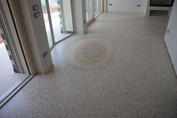 terrazzo floor sand design