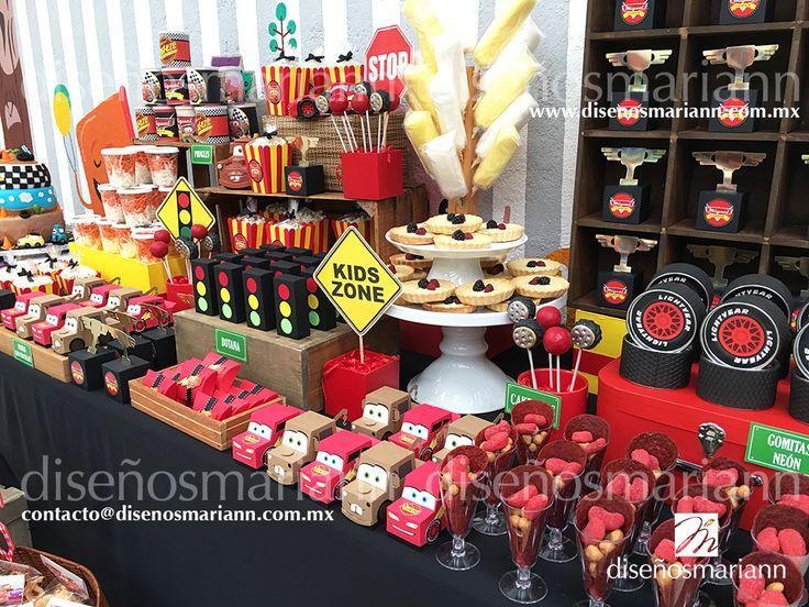 Mesa de dulces Cars/Cars candy bar/Cars birthday ideas/Cumpleaños Cars