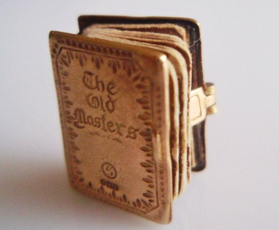(what a fun thing!) Rare 9ct Gold The Old Masters Book Charm by TrueVintageCharms, £95.00