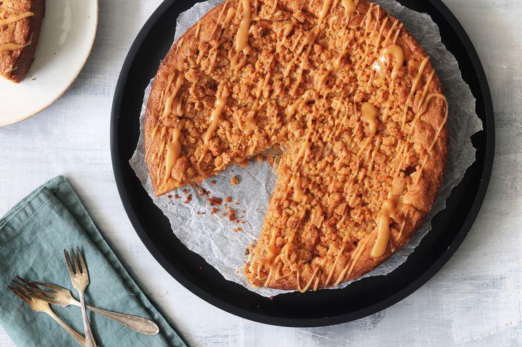 Appel-peer crumble taart met karamel - SINNER SUNDAY - Chickslovefood