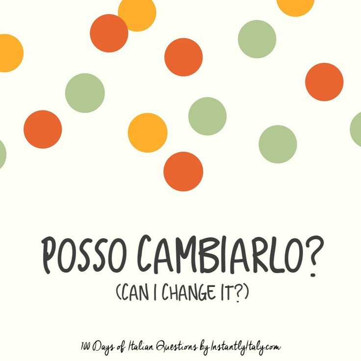 52/100 - 100 Days of Italian Questions on Instagram
