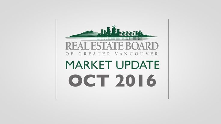 October 2016 Housing Market Update - The Real Estate Board of Greater Va...