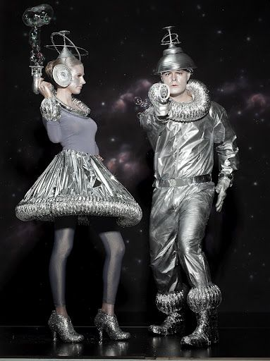 Cool skirt Martha Stewart Halloween - Continuing my Martha obsession with some silvery ideas for a Tin Woodsman costume.