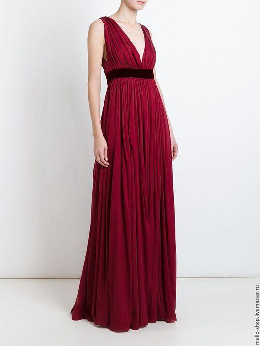Maxi dress / Платье макси длинна. Вечернее длинное платье в пол из итальянского натурального шелка. Нарядное платье на Новый год, платье на свадьбу.