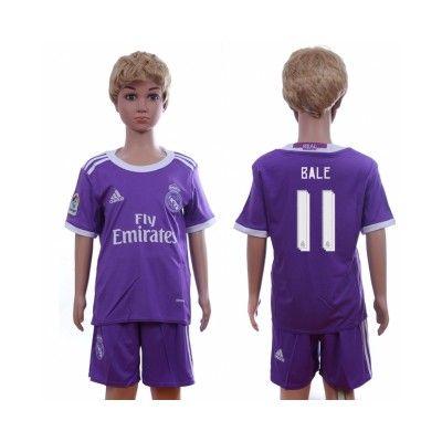 Děti Real Madrid 16-17 Gareth Bale 11 Venkovní Krátký Rukáv #Fotbalové    #dresy  #levně