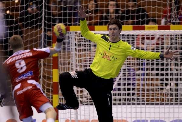 Niklas Landin Jacobsen - Danmark. Valur scheitert mit einem Heber im Vorrundenspiel gegen DK!