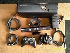 Xbox 360 Slim 500GB 2 Controllers 37 games Kinect  Forza Destiny Gears of War 3