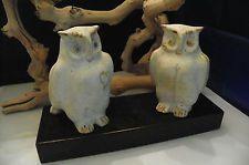 """Bruno Gambone aus """"Animals Fantastica"""", ein seltenes, zusammenpassendes Set von entzückenden Eulen   – Owls in clay"""