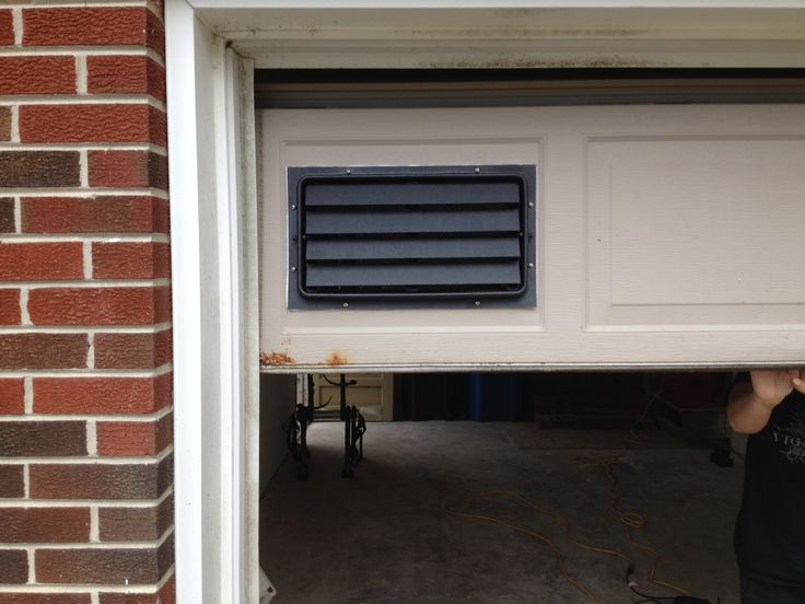Great Our 8x16 Engineered Flood Vent With Trim Sleeve Installed In A Garage Door  In Virginia Beach